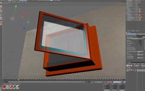 Künstlicher Kasten. So sieht der Defikasten im 3D-Programm aus.