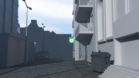 """Städtebau. Unsere Szenen spielen ja nicht im luftleeren Raum, sondern brauchen eine Umgebung! So entstehen ebenfalls am Computer künstliche Städte, in denen sich später die Schauspieler bewegen. Wir haben extra einen sehr abstrakten """"Look"""" gewählt."""