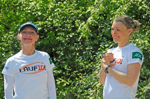 Laufpatin! Auch Petra Mentner von BAYERN1 geht mit auf die Piste! Und ganz ehrlich: Sie sieht gut trainiert aus...;-)