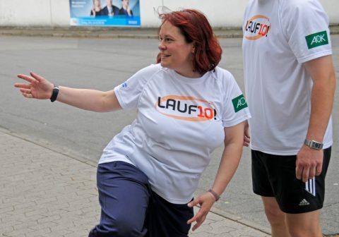 Dance with me: Bärbel schüttelt die Lauf-Anspannungen wieder ab...;-)