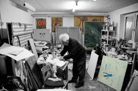 Im Atelier: Es duftet bereits wunderbar nach frischer Farbe...