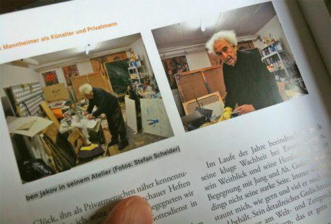 Eine gute Seite: Auch Scheider ist in dem neuen Werk auf zwei Seiten mit mehreren Fotografien vertreten. Sie stammen aus der Malstunde bei Max.