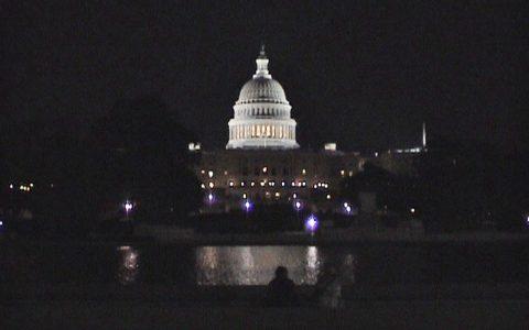 ... und ein fantastischer Blick auf das große US-Parlament!