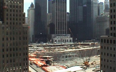 Wir senden vom Hoteldach gleich neben Ground Zero...