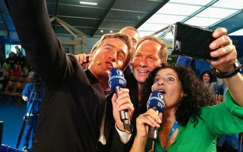Stefan Scheider, Thorsten Otto, Irina Hanft und Jürgen Gläser bei einer Selfie-Orgie!