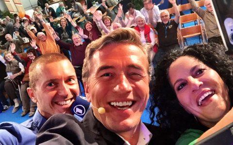 Erster Selfie-Test von Jürgen, Stefan und Irina: Ziemlich gelungen, oder?