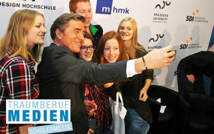 Schnell noch ein Selfie mit dem Podiumsgast!