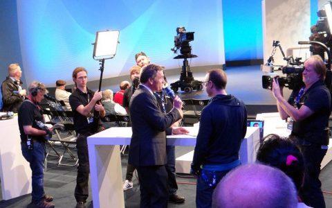 Studiogast Markus Beckedahl von netzpolitik.org - zu unserer Sendezeit ein heißer Gast (Verdacht wegen Landesverrats)