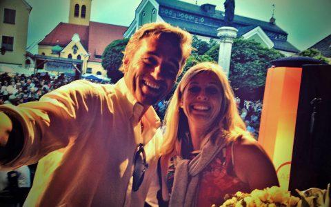 Bühnen-Selfie mit Andrea!