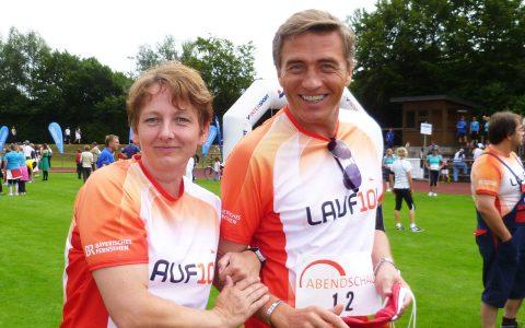 Schönes Paar: Kati und Stefan kurz vor dem Startschuss!