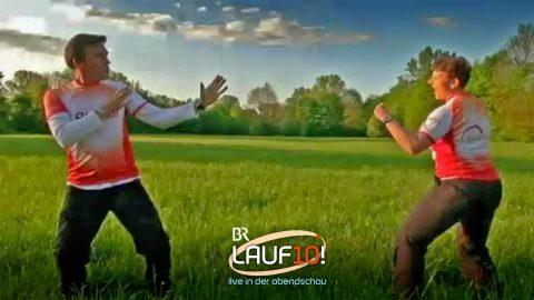 Kati und Stefan beim Taekwon-Do-Duell!