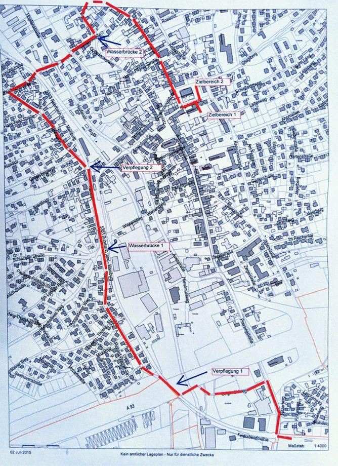 Der neue Laufplan: Stark verkürzt auf rund drei Kilometer.