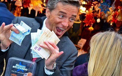 Auch Scheider selbst hat in seiner Dorfpizzeria gesammelt: Fast 800 Euro!