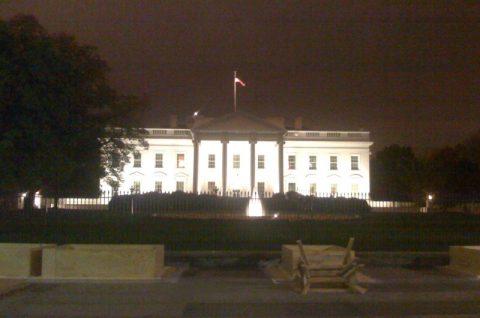 Das weiß strahlende Haus Handy-Foto vom Weißen Haus vor dem großen Medienrummel!