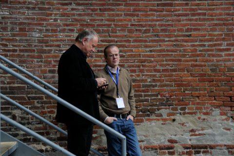 Der Chefredakteur ARD-aktuell Thomas Hinrichs trifft seinen alten Freund Klemens wieder (Thomas war auch eine Zeit lang Mittagsmagazin-Boss).