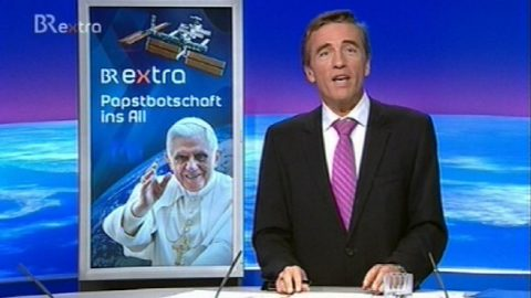 Eröffnung der Papstbotschaft ins All