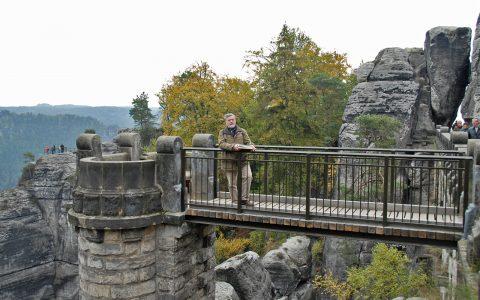 Immer mit dem Casparbuch in der Hand: Faszination Landschaft auf der Bastei