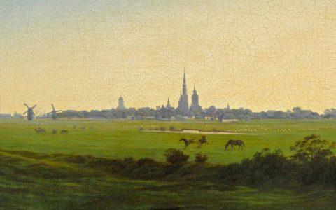 Caspar David Friedrich: Wiesen bei Greifswald (um 1820, Hamburger Kunsthalle)