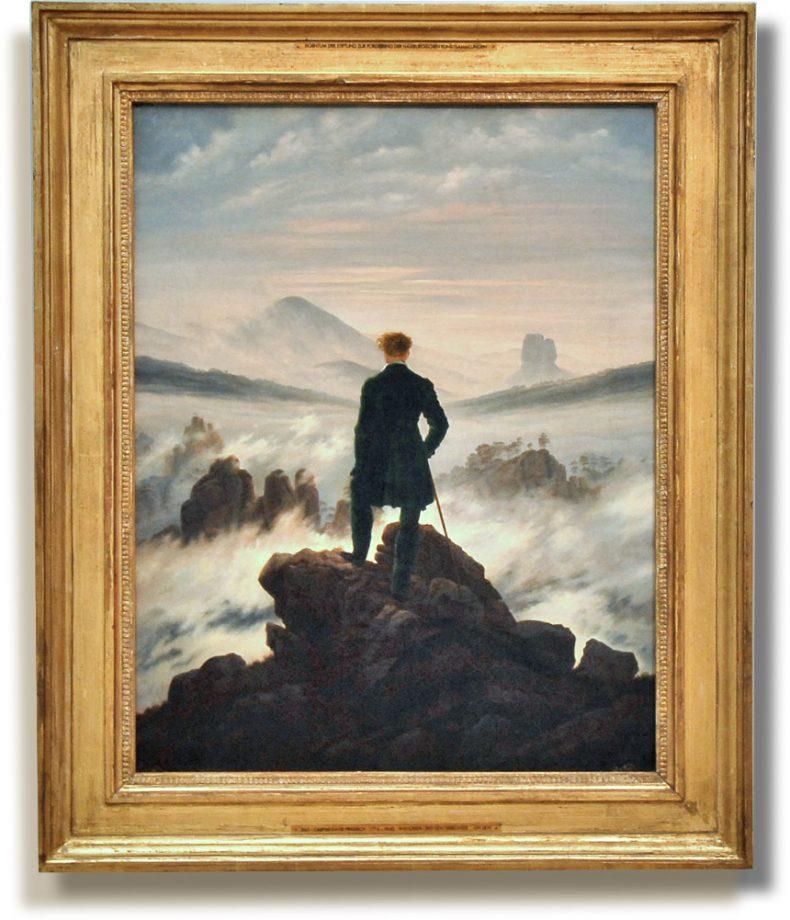 Der Wanderer über dem Nebelmeer (Hamburger Kunsthalle)