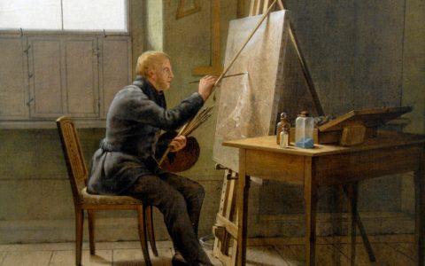 Caspar in seinem Atelier