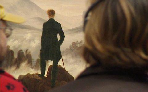 Gute Besucher-Übung: Sich in den Wanderer hineinversetzen (Caspar lädt dazu ein - durch die Rückenfigur).