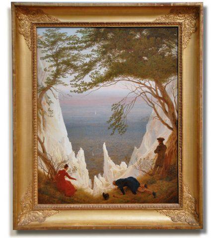 Weltberühmtes Bild: Kreidefelsen auf Rügen, 1818, Hamburger Kunsthalle