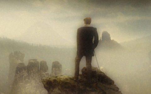 Wie Caspar auch fügen wir die Wanderer-Landschaft zusammen...