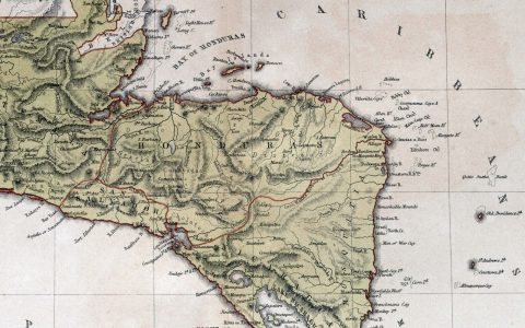 Alte Karte von Honduras (© PicturePast Fotolia.com)