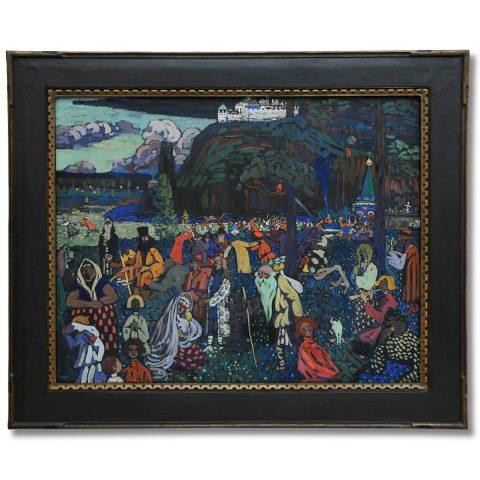 Das bunte Leben (Wassily Kandinsky, 1907, Lenbachhaus München)