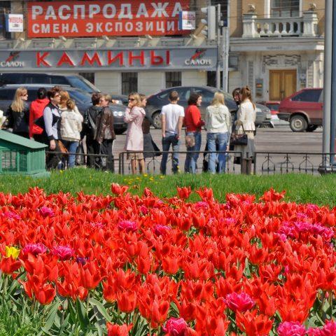Farbenpracht - auch im Moskauer Straßenleben ein gesuchtes Motiv!