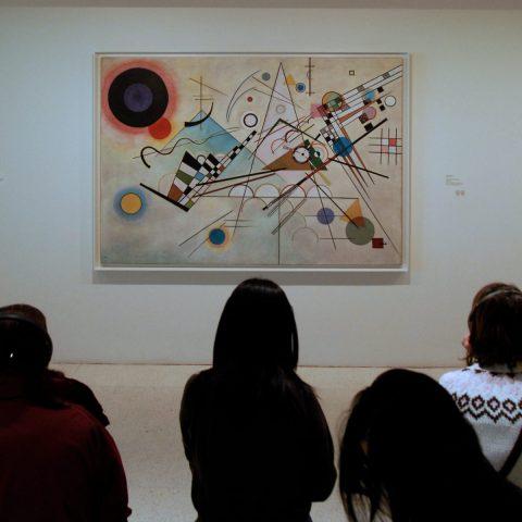 """Die berühmte und wegweisende """"Komposition 8"""" (Kandinsky, Juli 1923, Solomon R. Guggenheim Museum, New York)"""