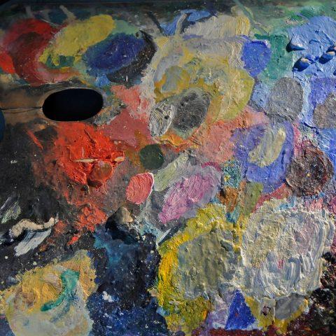 Original-Palette von Kandinsky: Von hier aus entstanden die großen Bilder...