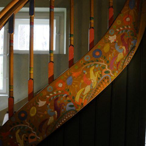 Das Treppengeländer - ebenfalls ein Kandinsky-Gemälde...