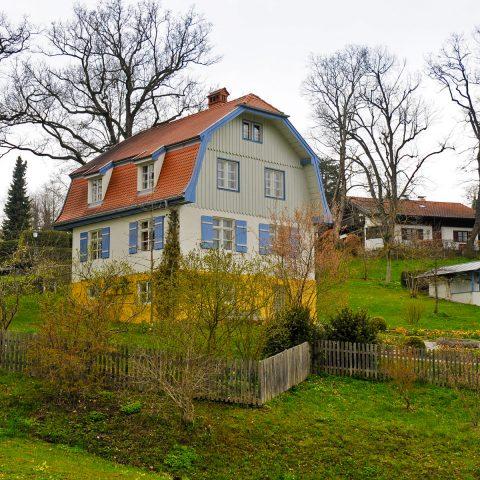 """Das Münterhaus in Murnau - auch """"Russenhaus"""" genannt."""