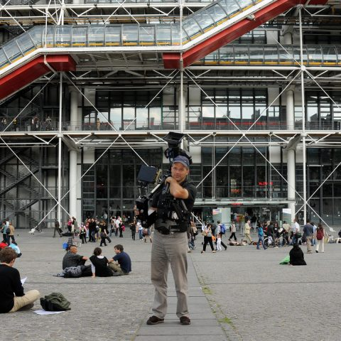 Heldenfoto von Stephan: Mit der Steadi aufs Centre Pompidou zu!