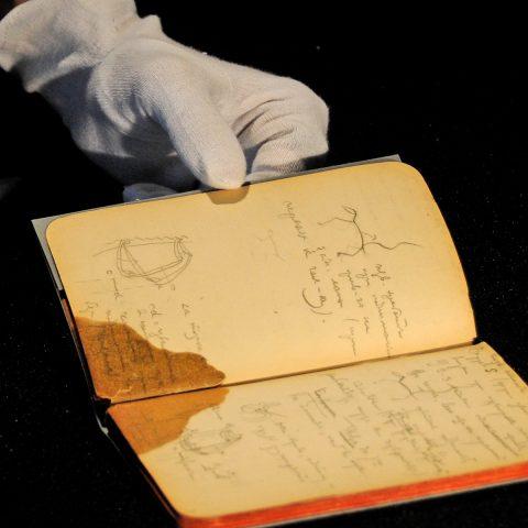 Heiligtum: Blick in Kandinskys Notizbuch - voller Farbstudien. Kandinsky war auch ein Farbenforscher!