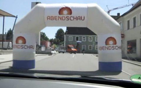 Das Ziel in Wolnzach neben dem Hopfenmuseum: Mal kurz mit dem Auto durchfahren...;-)