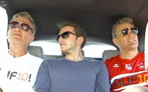 Probefahrt an der Wolnzacher Wand: Tom Meiler, Tommy Schwimmer und Stefan nehmen die Dinge jetzt noch cool...;-)