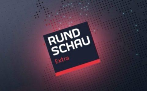 Am nächsten Morgen ein vielbenutztes Sendungs-Logo: Rundschau Extra, live ab 6 Uhr!