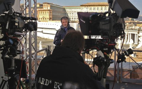 Arbeitsplatz mit Aussicht: Unsere Location über dem Petersplatz!