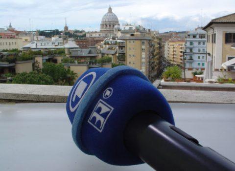 Bilderbuchblick Blick vom Studiodach auf den Vatikan.