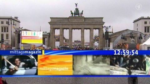 Auf Sendung! Das Mittagsmagazin beginnt heute mal nicht mit der Totale des Münchner Studios, sondern...