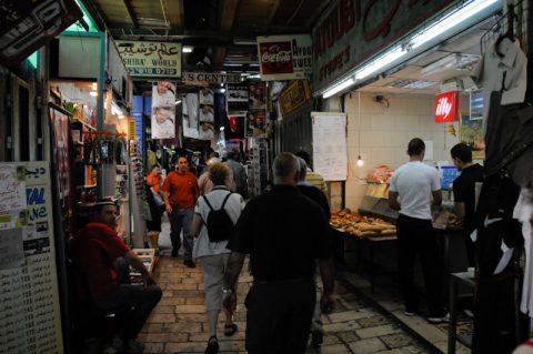 Dicht & dunkel: Die Altstadt von Jerusalem mit den Marktgassen.