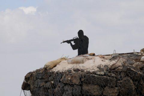 Stummer Krieger auf den Golanhöhen...