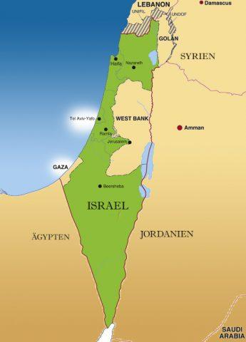 Geographische Mitte! Zur Orientierung: Tel Aviv